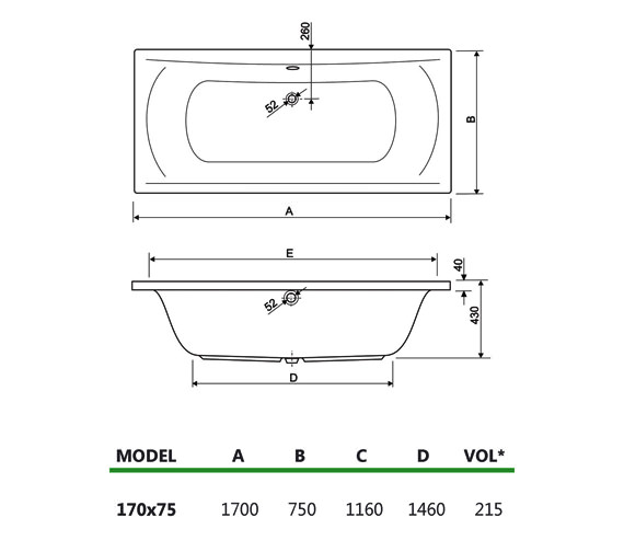 Technical drawing QS-V34728 / 200ARENA1775CWS08