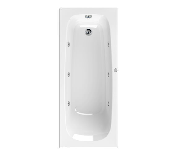 Aquaestil Mercury 1600 x 700mm 6 Jets Whirlpool Bath