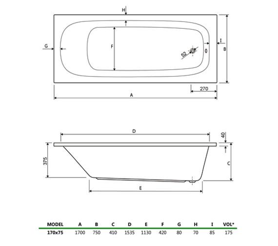 Technical drawing QS-V34747 / 200MERCURY1775CWS06