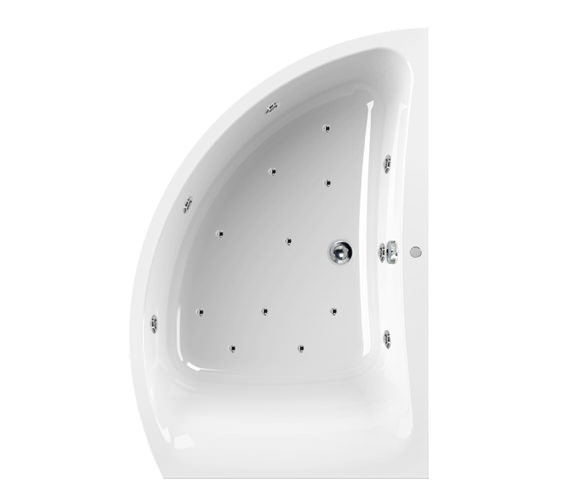 Aquaestil Comet 1500 x 1000mm 16 Jets Left Hand Whirlpool Bath