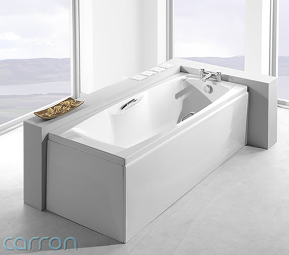 Additional image of Carron Imperial 5mm Single Ended Bath 1675 x 700mm - CABIM16755TA