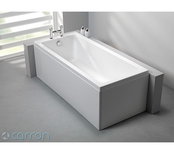 Additional image of Carron Quantum Single Ended Acrylic Bath 1800 x 800mm - CABQU185PA