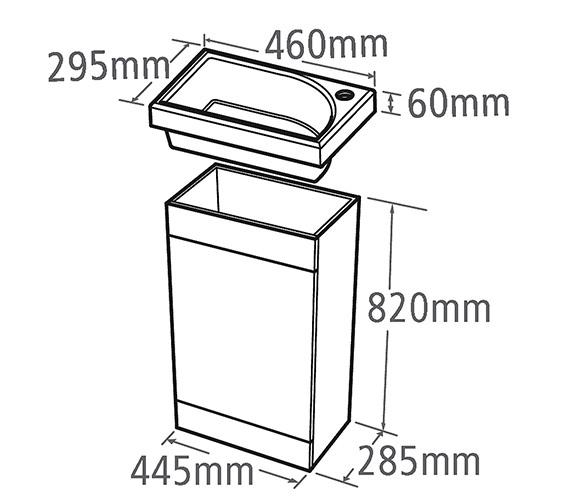 Technical drawing QS-V6755 / ESVB45DE