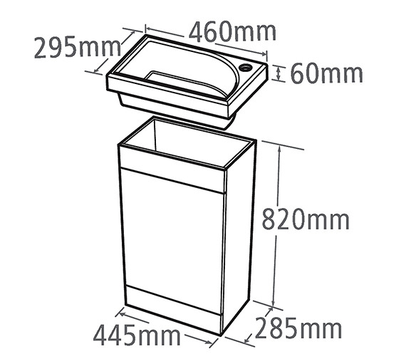 Technical drawing QS-V34848 / ESVB45W