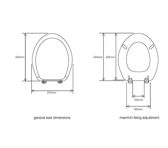 Technical drawing QS-V34864 / 8601WSC