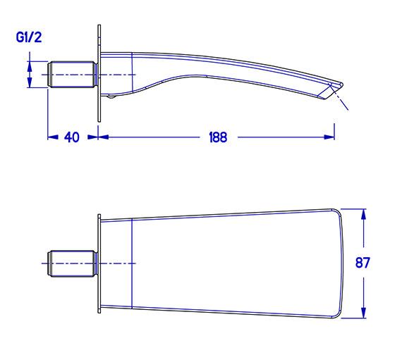 Technical drawing QS-V34986 / ES0370WC