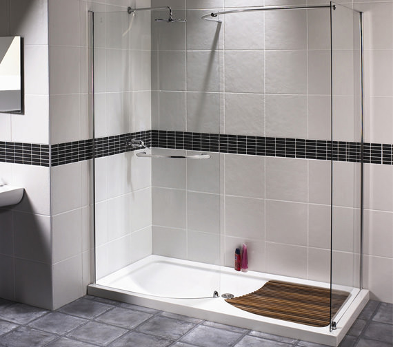 Aqualux Aquaspace Walk-in Shower Enclosure 1400 x 800mm - FEN0124AQU
