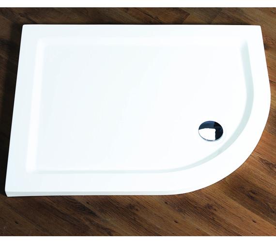 Aqualux 1200 x 800mm Aqua 55 Offset Quadrant Tray Left Hand