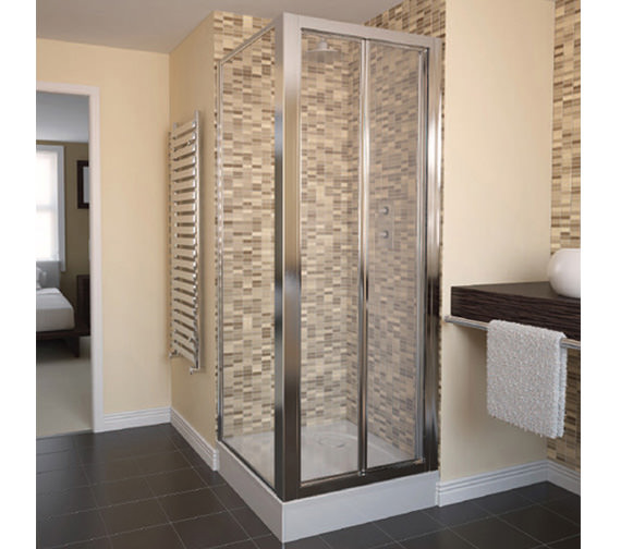 Aqualux Aqua 4 Bi-Fold Shower Door 800mm White - FEN1115AQU