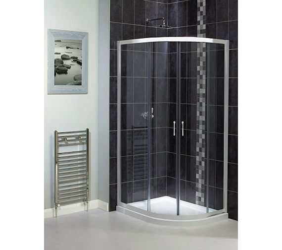 Aqualux Shine Offset Quadrant Enclosure 1200 x 800mm Polished Silver