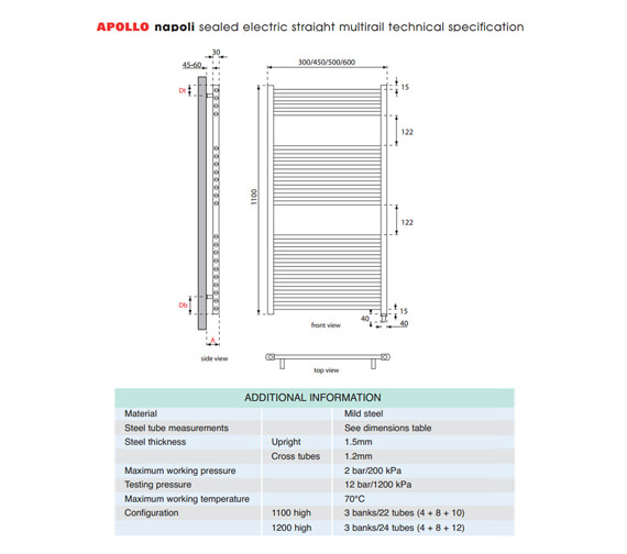 Technical drawing QS-V35289 / EASC6W1100