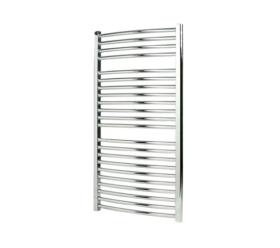 Apollo Napoli Curved Sealed Electric Towel Rail Chrome 600 x 700mm