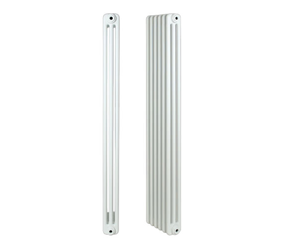 Apollo Roma White 3 Column Radiator 5 Section 250 x 500mm - 3C5H250