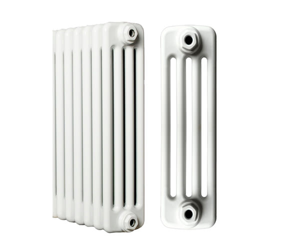 Apollo Roma White Steel 4 Column Radiator 8 Section 400 x 600mm
