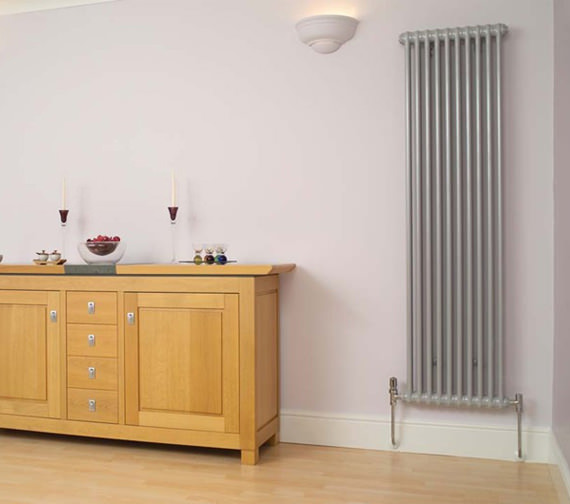Apollo Roma Vertical 2000mm Height Steel 2 Column Radiator