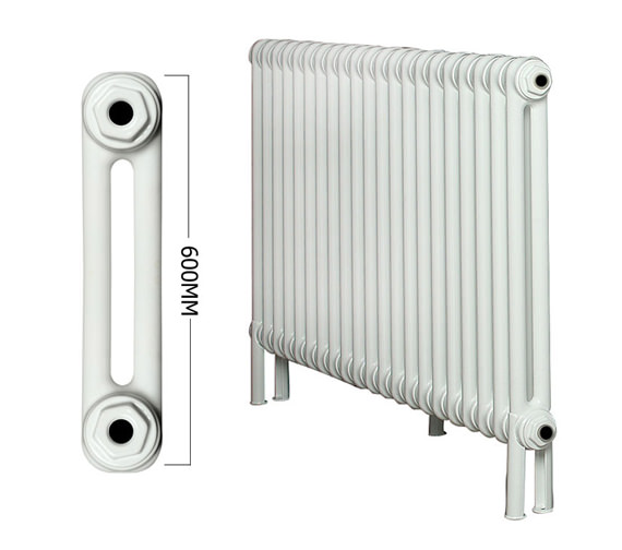 Apollo Roma 21 Section 2 Column Radiator Welded Feet 1000 x 600mm