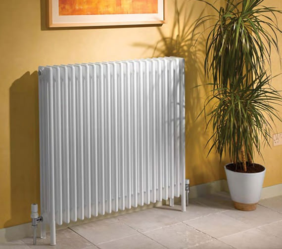Apollo Roma Horizontal 300mm Height 4 Column Steel Radiator With Feets