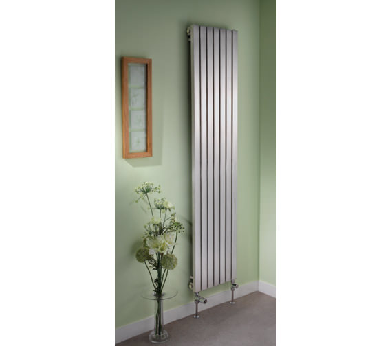 Additional image of Apollo Ferrara 1000mm High Stainless Steel Radiator - Available Widths 300 - 400 - 500mm