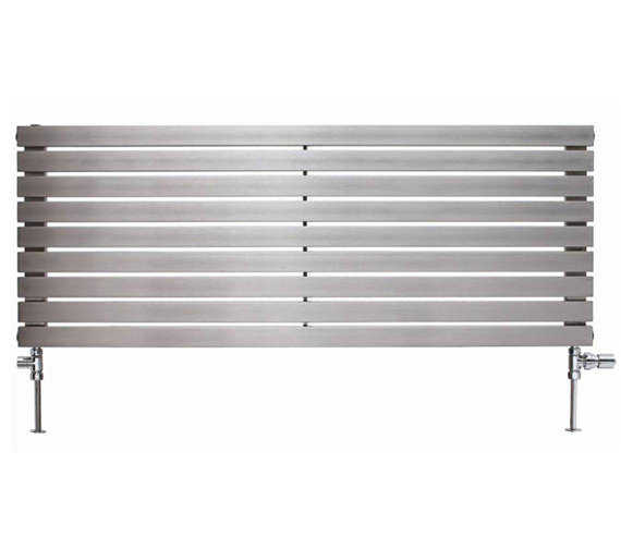 Apollo Ferrara 1000mm High Stainless Steel Radiator - Available Widths 300 - 400 - 500mm