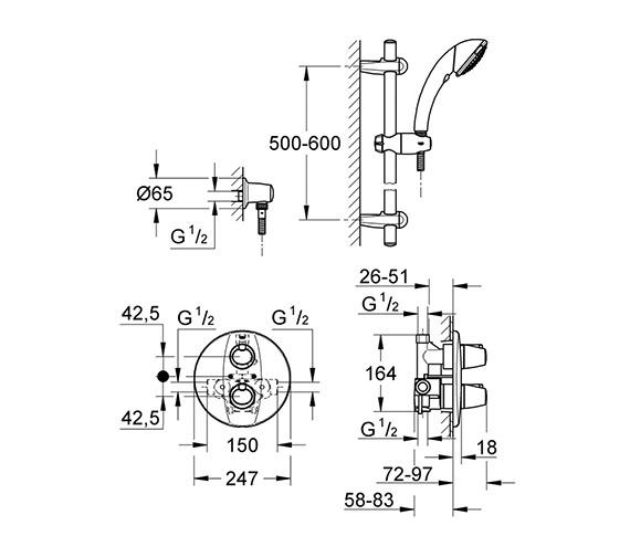 Technical drawing QS-V354 / 34193000