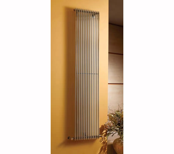 Apollo Rimini 1800mm Height Straight Single Chrome Tube On Tube Radiator