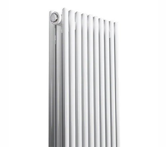 Apollo Rimini Straight Double Tube-On-Tube Radiator White 400 x 1800mm