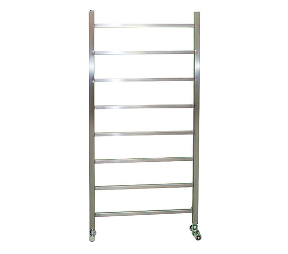 Apollo Genova Brushed Stainless Steel Towel Rail 600 x 1200mm