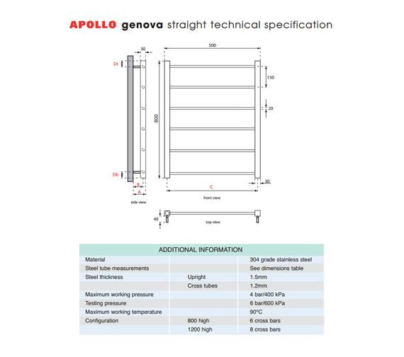 Technical drawing QS-V35582 / GSSTR5W800