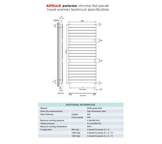 Technical drawing QS-V35605 / PA5W1500