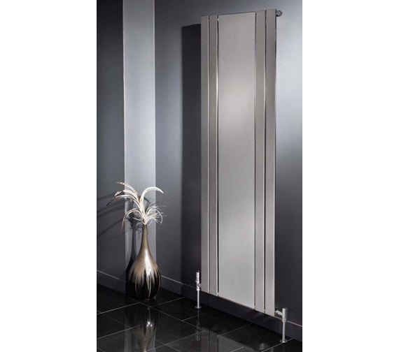 Additional image of Apollo Capri Vertical Radiator With Mirror 600mm x 1800mm - EC18H4S