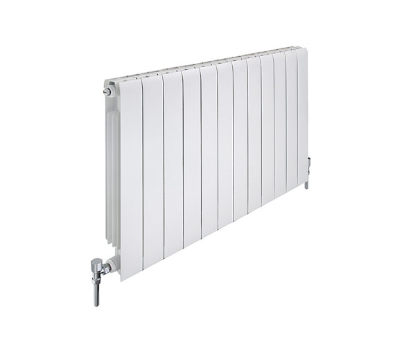 Apollo Modena Horizontal Aluminium Radiator 880mm x 480mm - 6 Sections