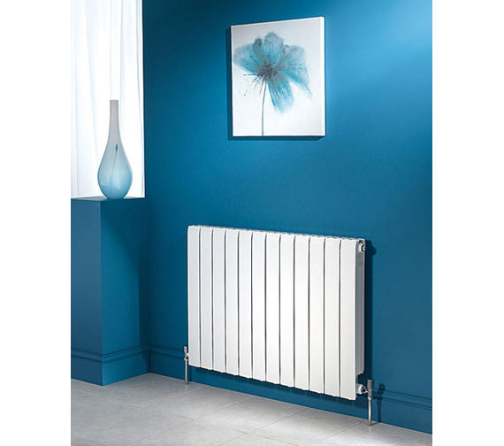 Additional image of Apollo Modena Horizontal 680mm x 320mm Aluminium Radiator - FALH6H4S