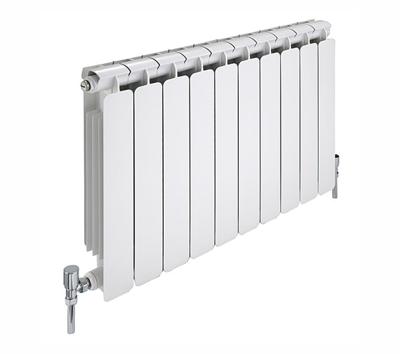 Apollo Modena 8 Section Curved Aluminium Radiator 680 x 640mm