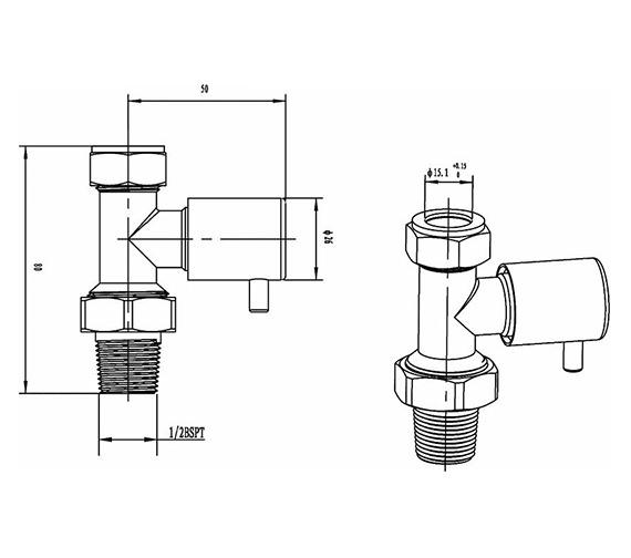 Technical drawing QS-V36002 / HT327