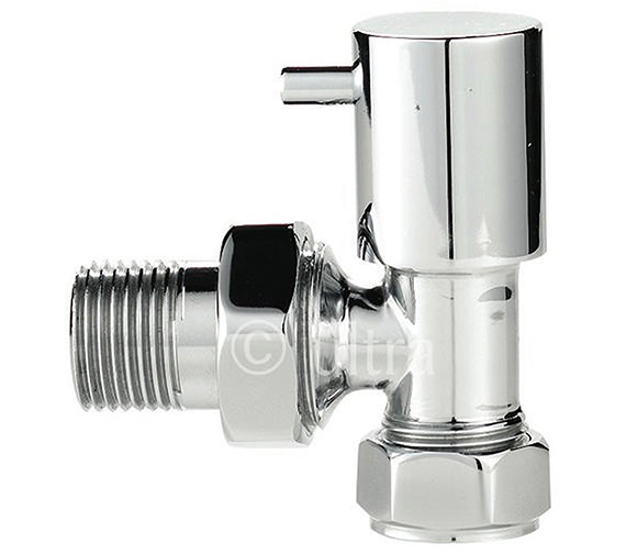 Ultra Minimalist Angled Radiator Valves Chrome - HT328