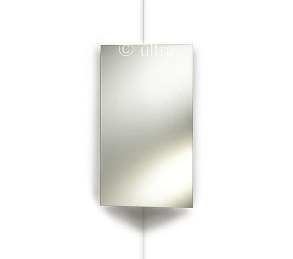 Ultra Avant Stainless Steel Corner Mirrored Cabinet 380 x 650mm
