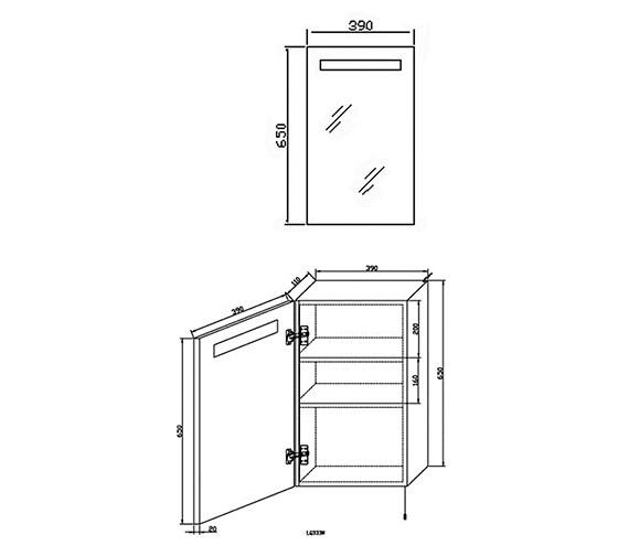 Technical drawing QS-V36017 / LQ333
