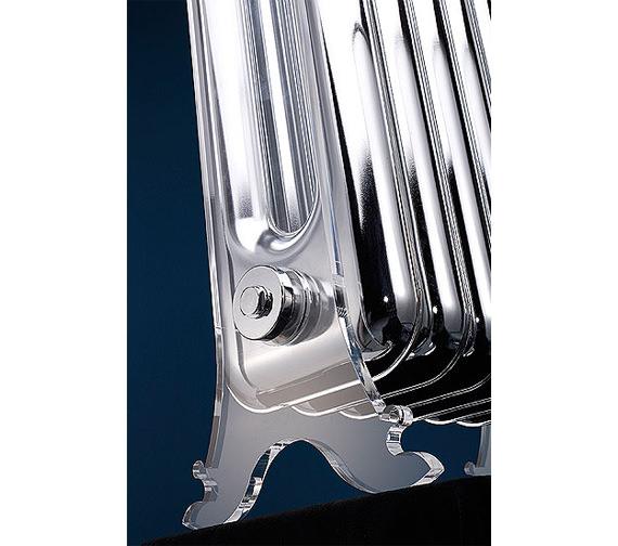 Additional image of MHS Vintage Chrome Designer Radiator 392 x 890mm - VIN 02 1 081036