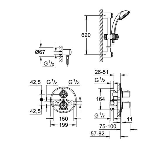 Technical drawing QS-V360 / 34162000