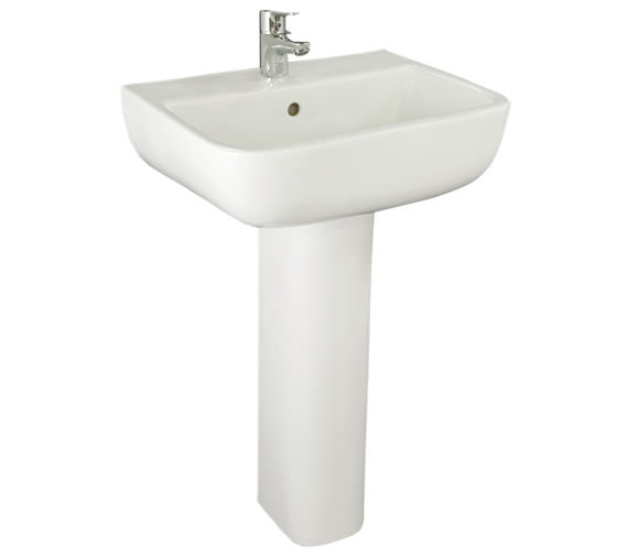 RAK Series 600 1 Tap Hole Basin With Full Pedestal 520mm - S60052BAS1