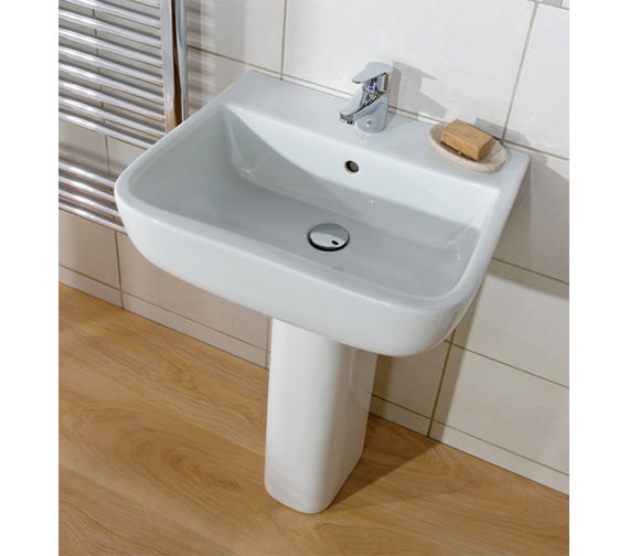 Additional image of RAK Series 600 1 Tap Hole Basin With Full Pedestal 520mm - S60052BAS1