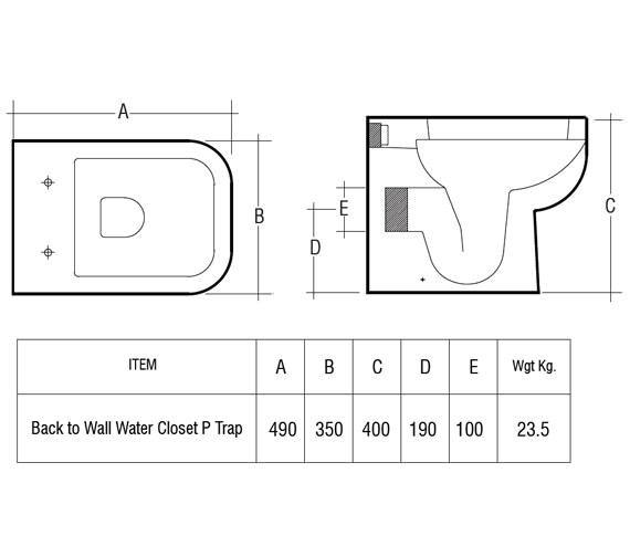 Technical drawing QS-V36219 / S600BTWPAN/SC