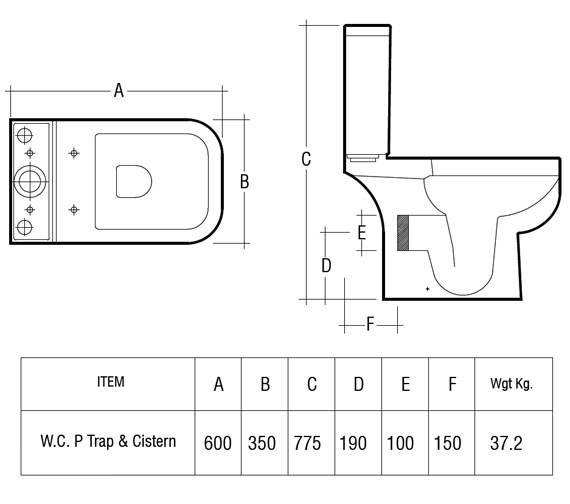 Technical drawing QS-V36223 / S600PAK