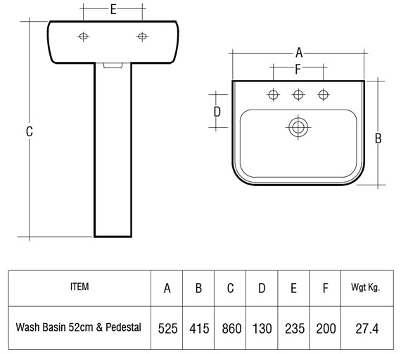 Technical drawing QS-V36240 / MET52BAS1