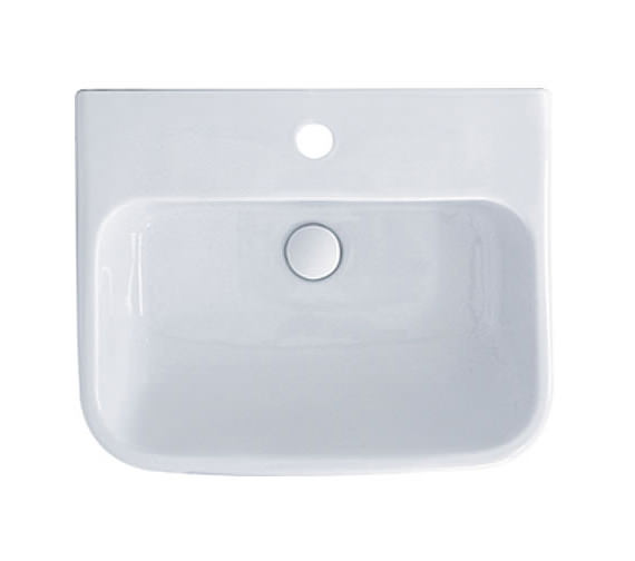 Additional image of RAK Metropolitan 1 Tap Hole Basin With Full Pedestal 525mm - MET52BAS1
