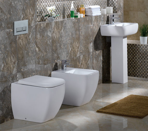 Additional image of RAK Metropolitan Back To Wall WC Pan With Soft-Close Seat 525mm