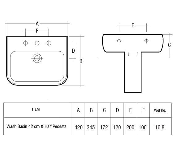 Technical drawing QS-V36241 / MET42BAS1