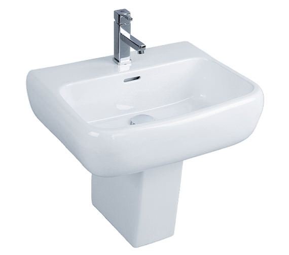 RAK Metropolitan 1 Tap Hole Basin With Semi Pedestal 525mm