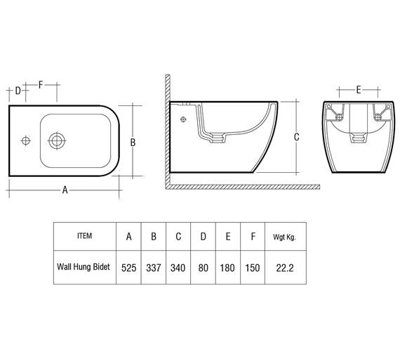 Technical drawing QS-V36248 / METWHBID
