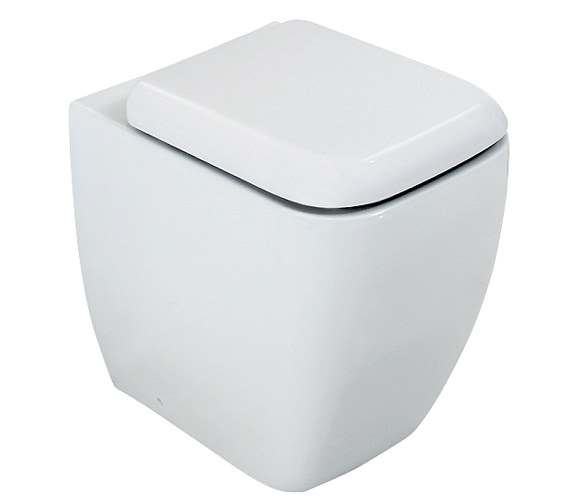 RAK Metropolitan Back To Wall WC Pan With Soft-Close Seat 525mm